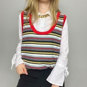 1970s striped casual tank top